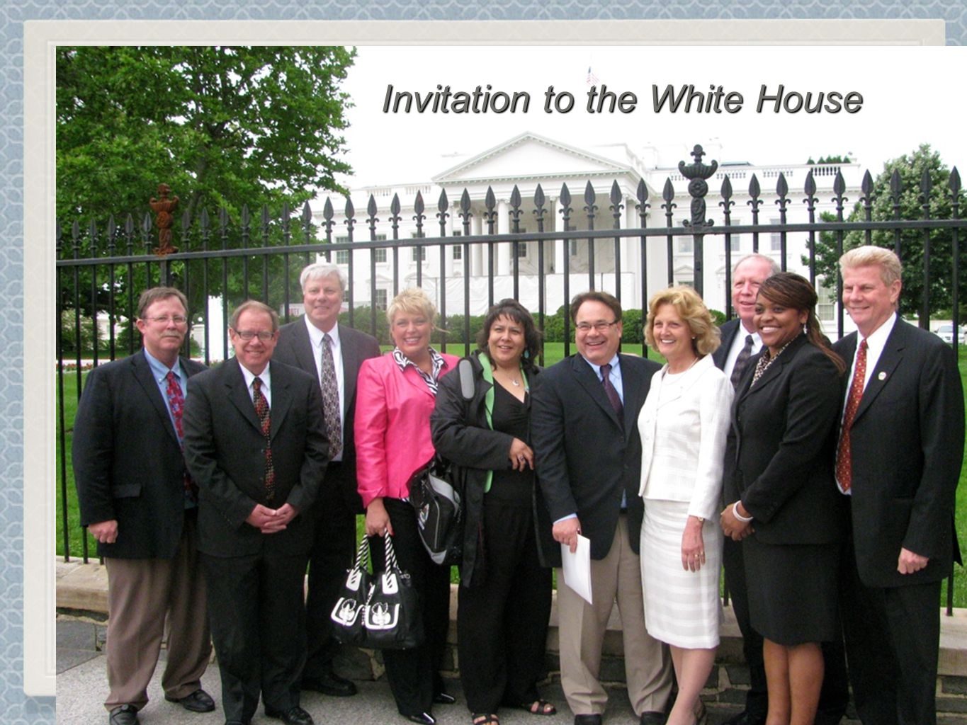 Invite to the Invitation to the White House