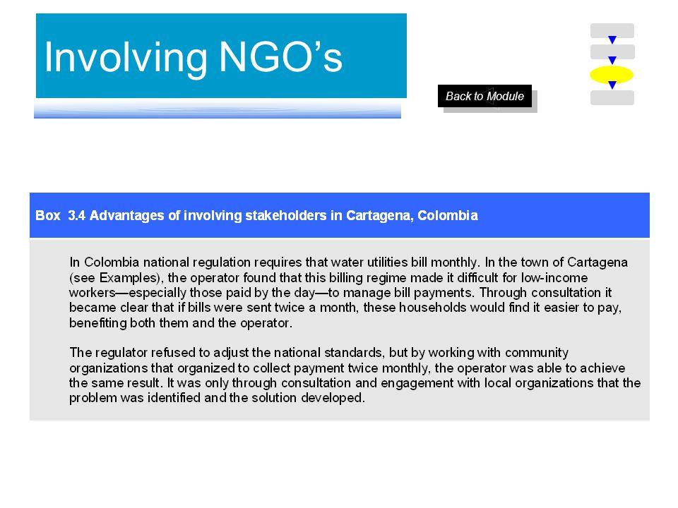 Involving NGOs Back to Module