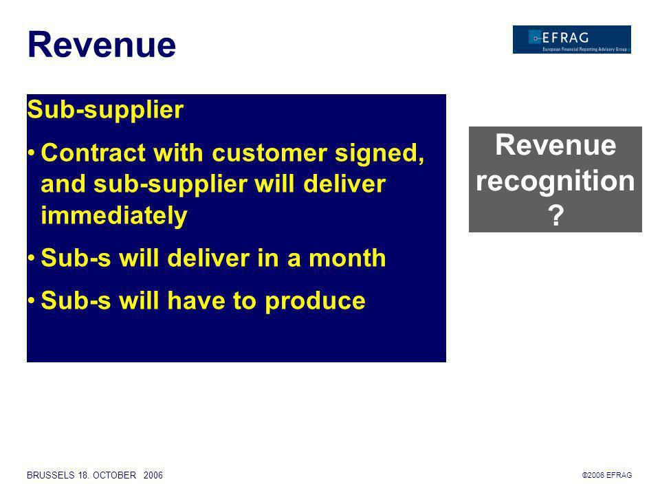 ©2006 EFRAG BRUSSELS 18. OCTOBER 2006 Revenue Hardware Service Licens Upgrade