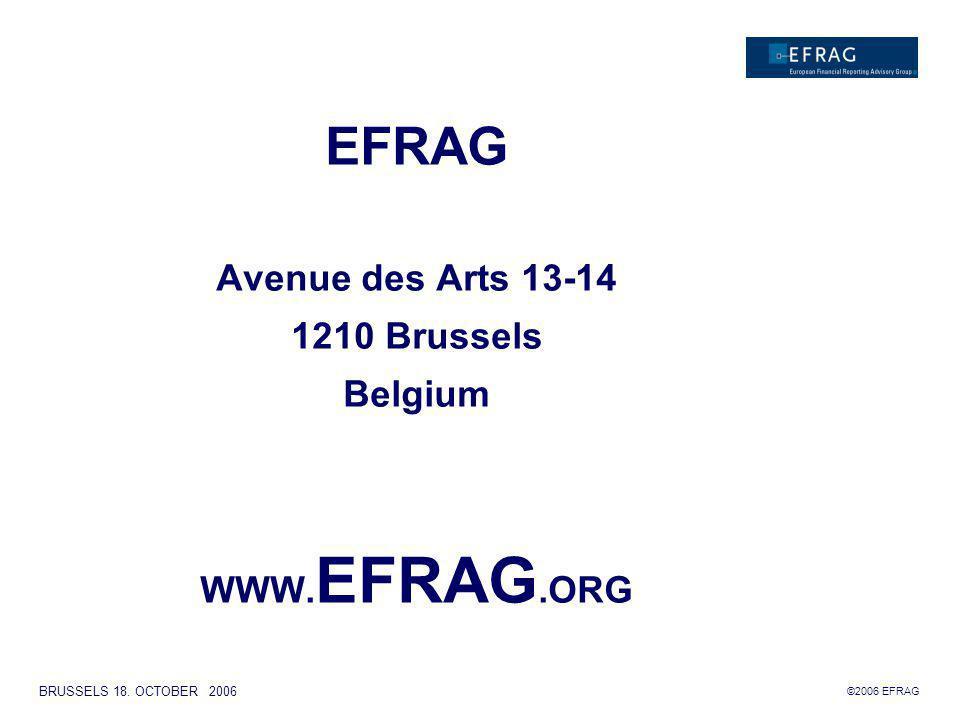 ©2006 EFRAG BRUSSELS 18.