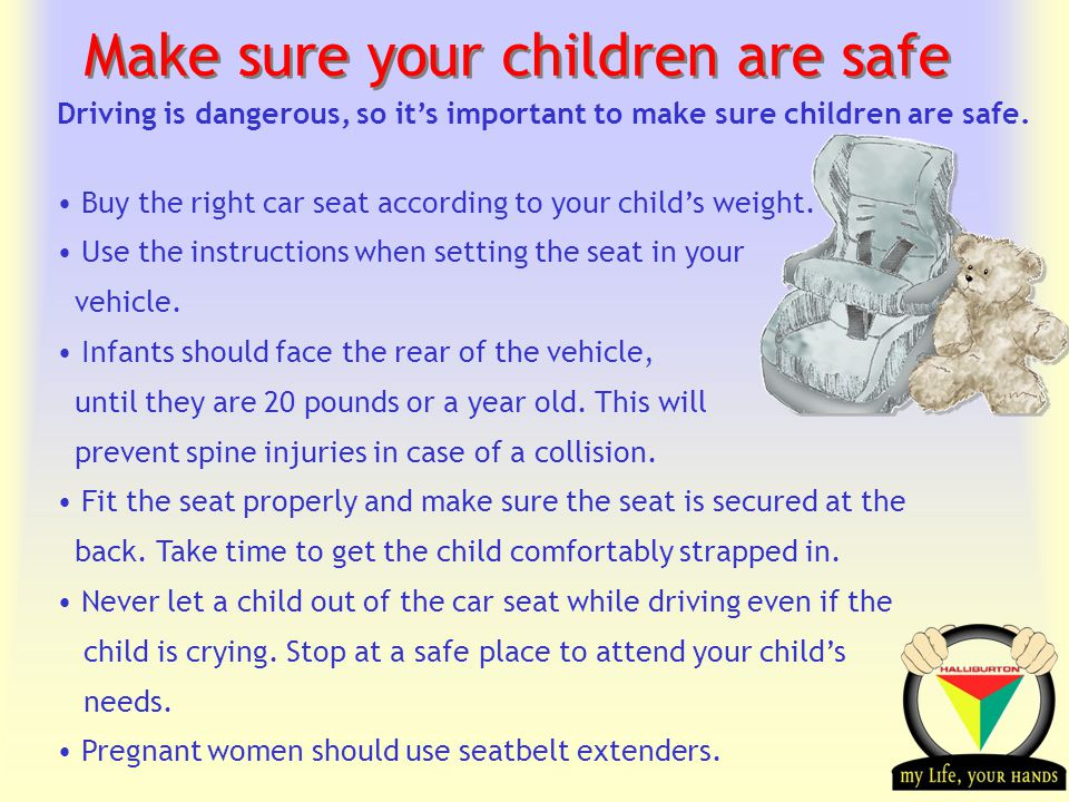 Transportation Tuesday Make sure your children are safe Driving is dangerous, so its important to make sure children are safe.