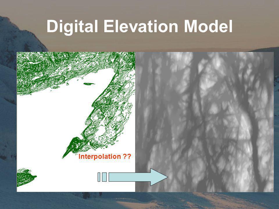 Digital Elevation Model Interpolation ??