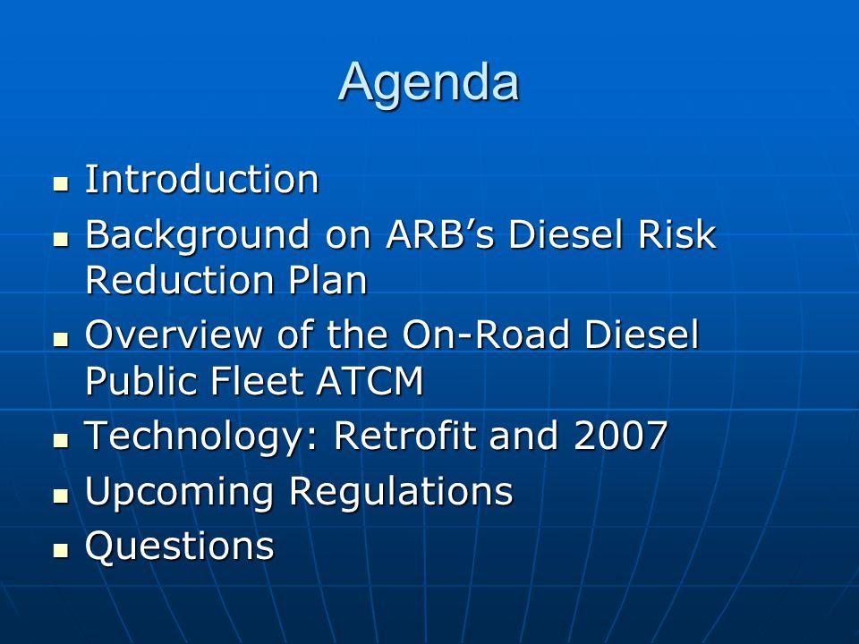 Background: Diesel Risk Reduction Plan