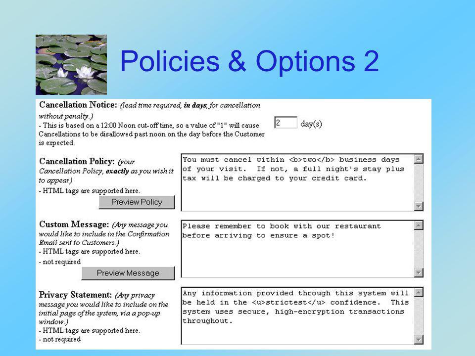 Policies & Options 1
