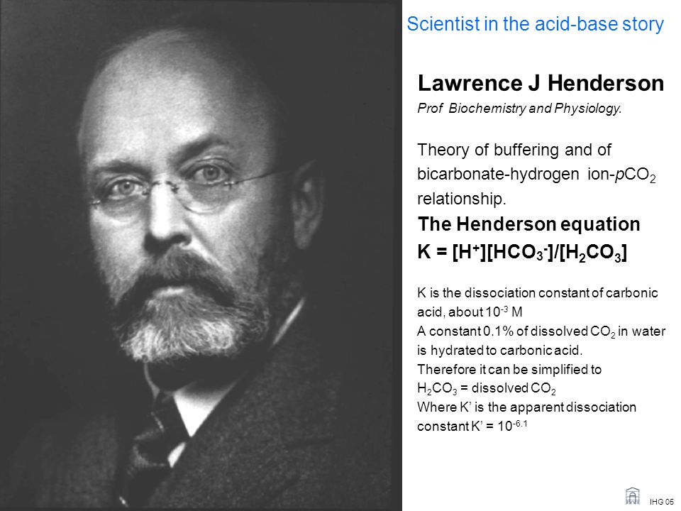 IHG 05 Lawrence J Henderson Prof Biochemistry and Physiology.