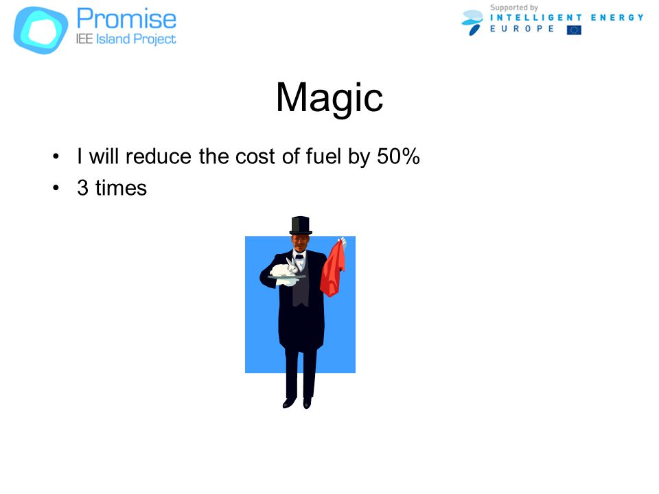 Magic I will reduce the cost of fuel by 50% 3 times