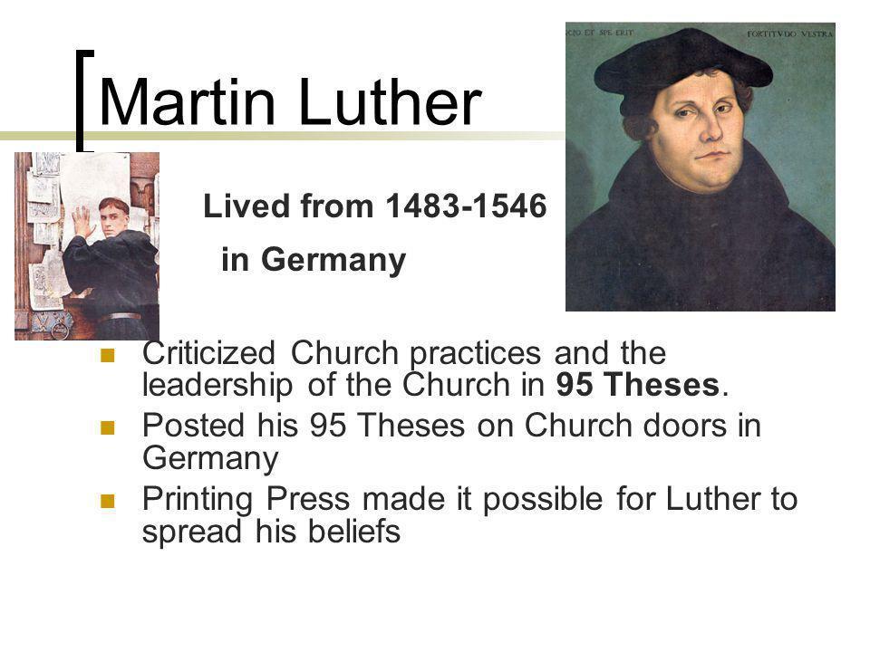 Martin Luther John Calvin