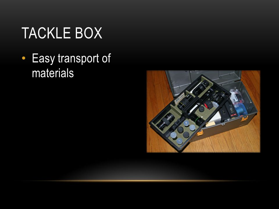 Easy transport of materials TACKLE BOX