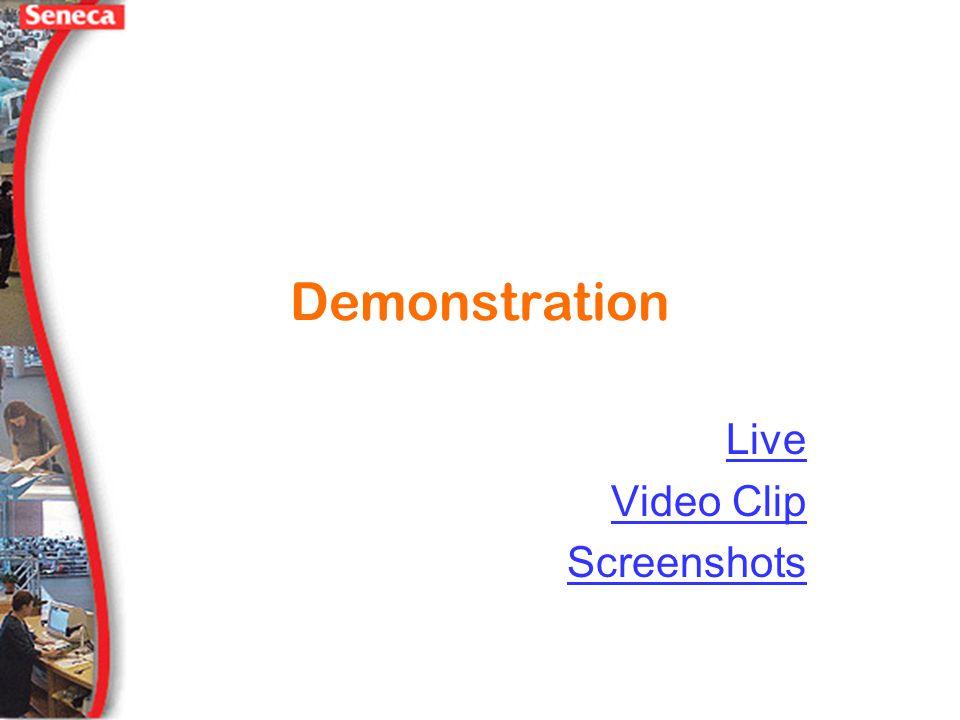 Demonstration Live Video Clip Screenshots
