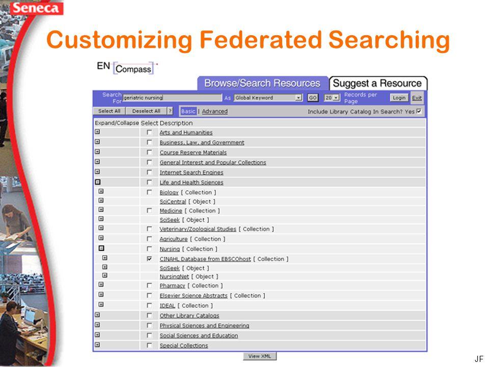 Customizing Federated Searching JF