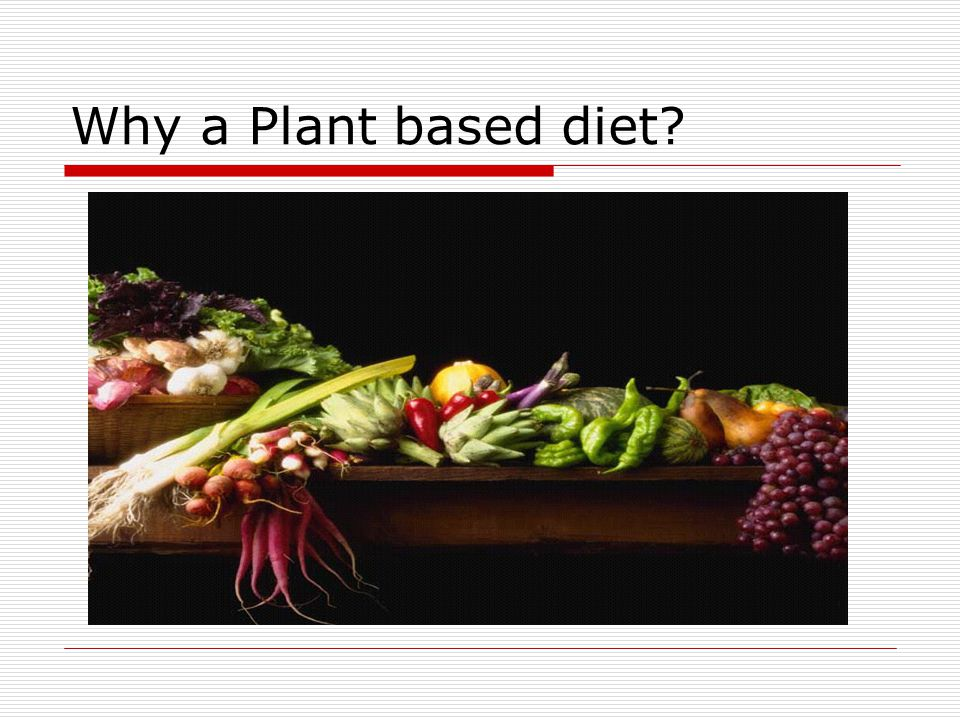 Why a Plant based diet?