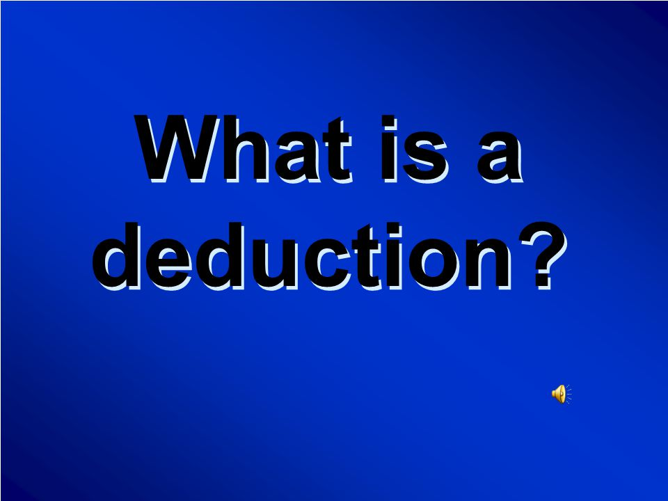 Taxes Final Jeopardy Question