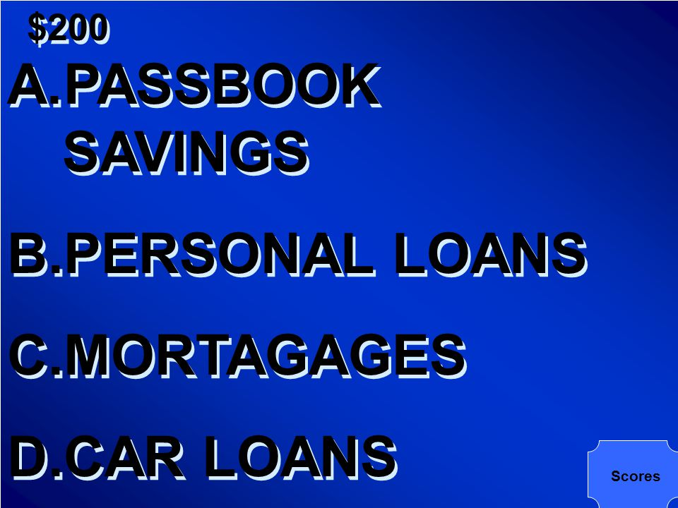 $200 WHICH OF THE FOLLOWING HAS THE LOWEST INTEREST RATE?
