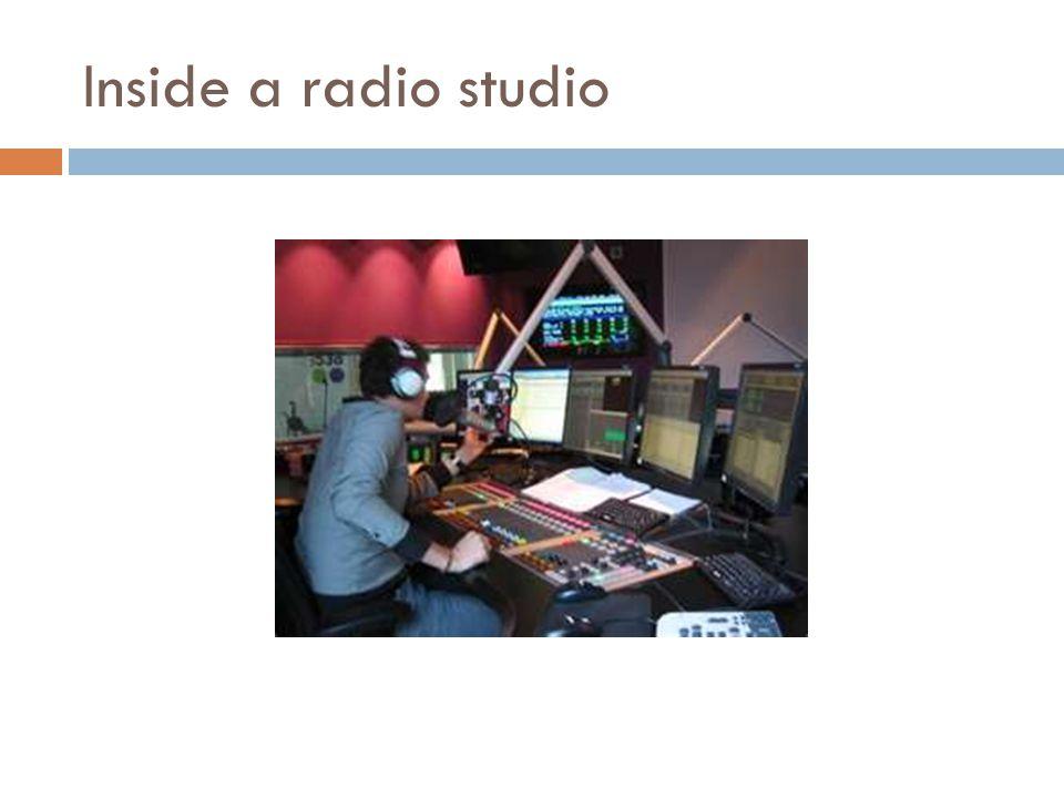 Inside a radio studio