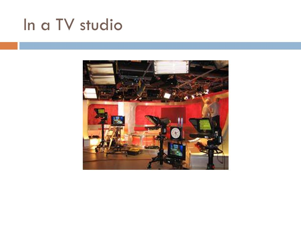 In a TV studio