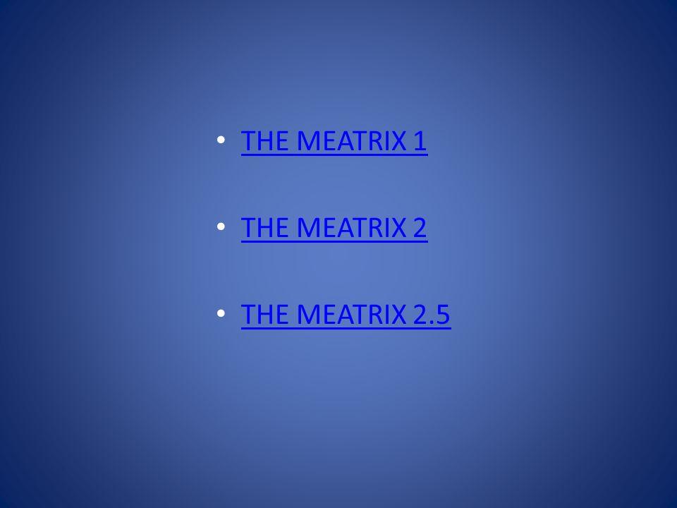 THE MEATRIX 1 THE MEATRIX 2 THE MEATRIX 2.5