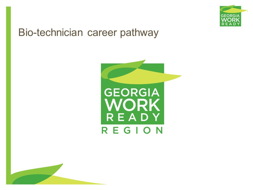 Bio-technician career pathway 27
