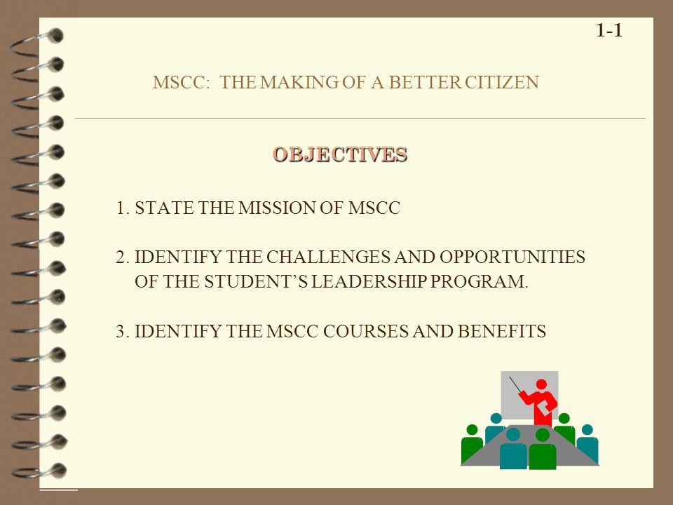 KEY WORDS CADETMISSION CHALLENGESMOTIVATE MSCCOPPORTUNITIES LET UNIQUE 1-2