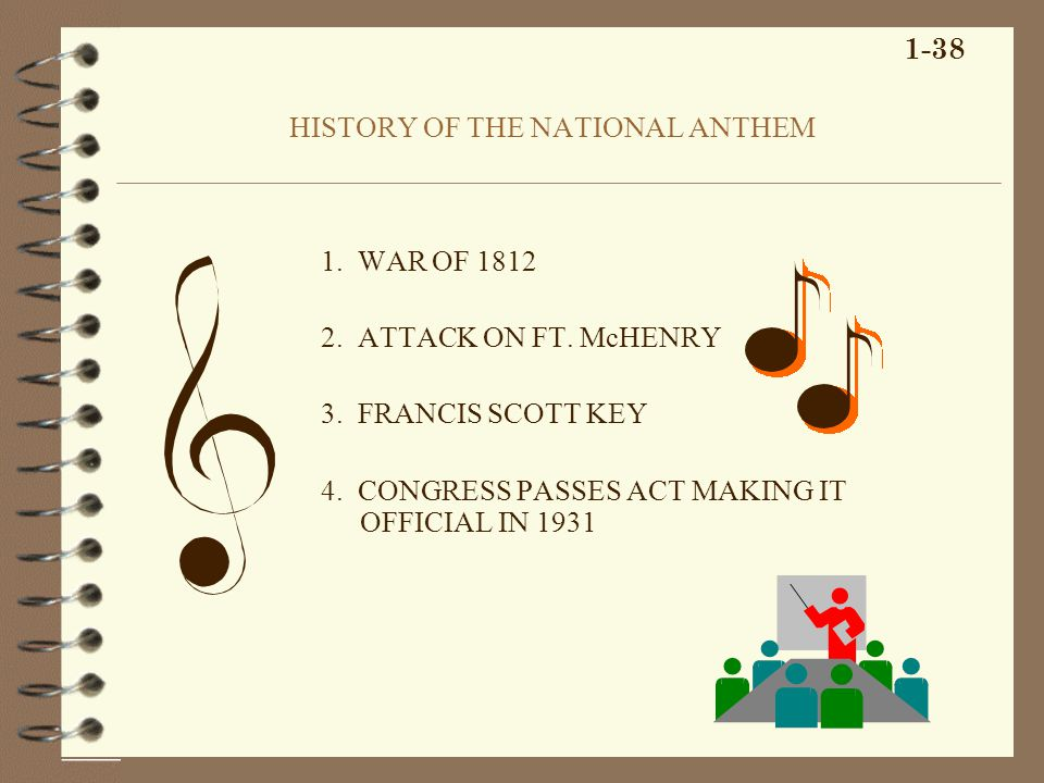 HISTORY OF THE NATIONAL ANTHEM 1. WAR OF 1812 2. ATTACK ON FT.