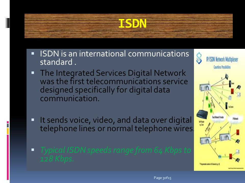 B-ISDN Broadband ISDN is similar in function to ISDN but it transfers data over fiber optic telephone lines, not normal telephone wires..