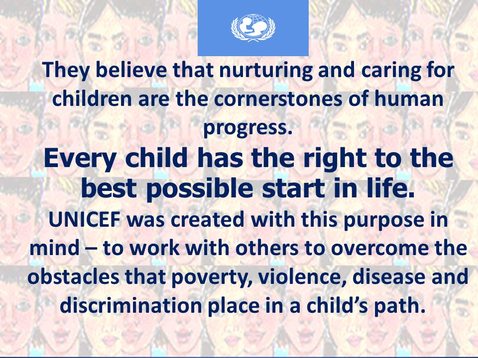 History UNICEF-The United Nations International Children s Emergency Fund, was created by the United Nations General Assembly on December 11, 1946, to provide emergency food and healthcare to children in countries that had been devastated by World War II.