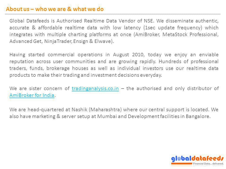 Contact Global Financial Datafeeds LLP D3, City Plaza, Old Mumbai Agra Road, Nashik - 422001.