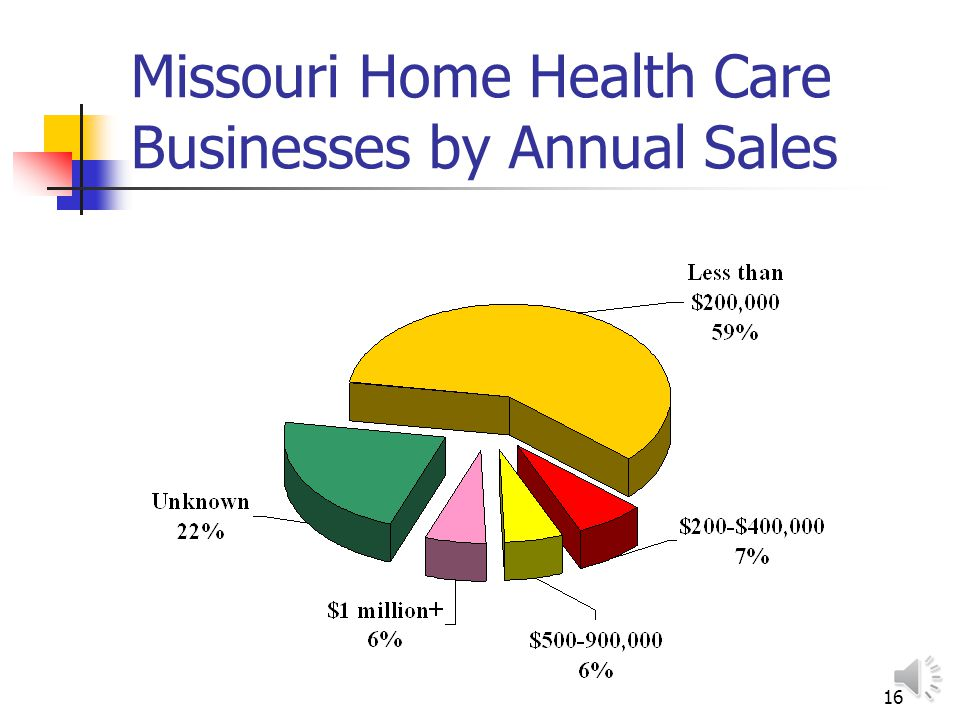 15 Selected Health Care Providers: Missouri Source: Dun & Bradstreet