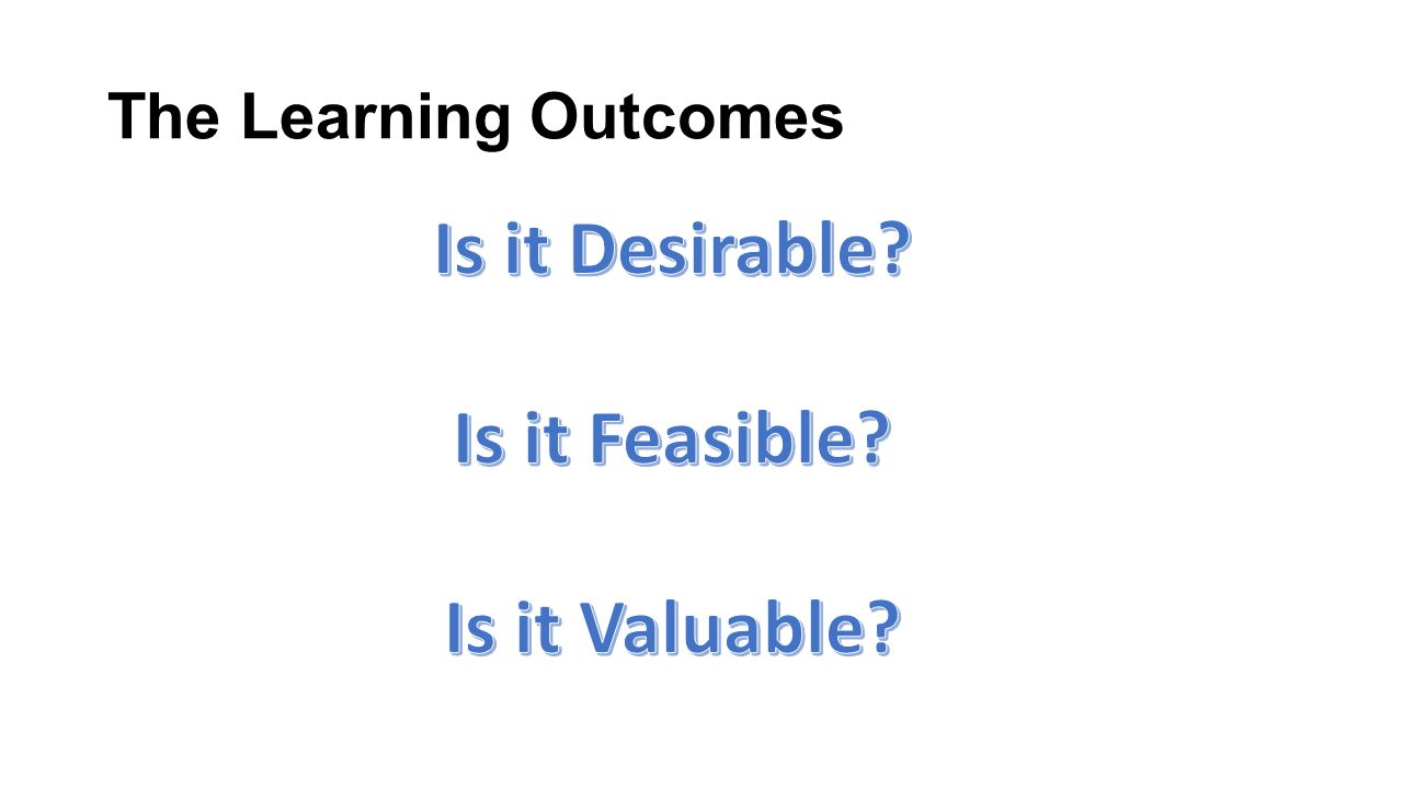 The Learning Outcomes