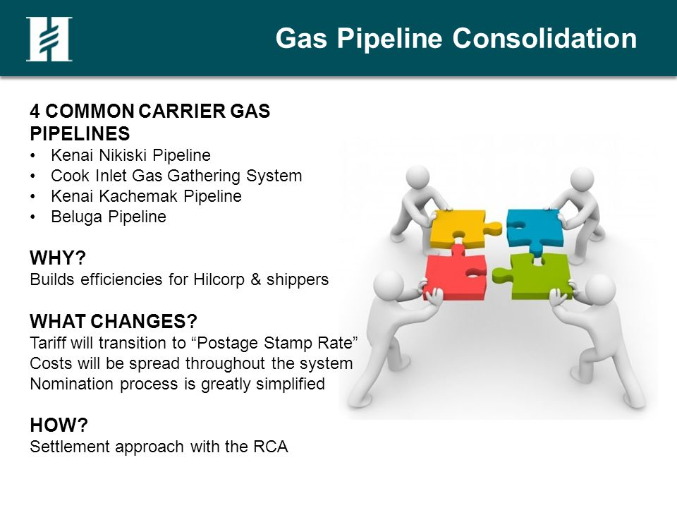 Gas Pipeline Consolidation 4 COMMON CARRIER GAS PIPELINES Kenai Nikiski Pipeline Cook Inlet Gas Gathering System Kenai Kachemak Pipeline Beluga Pipeline WHY.