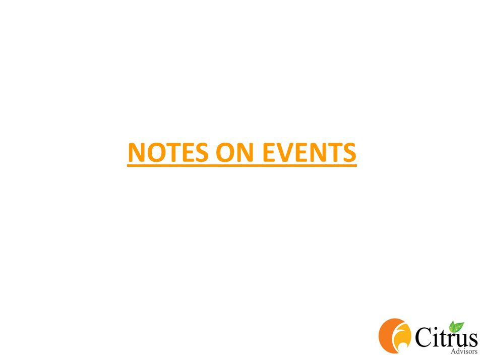 NOTES ON EVENTS
