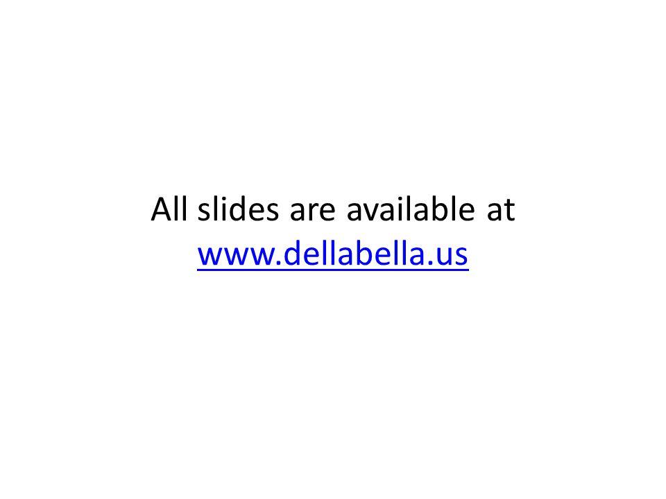 All slides are available at www.dellabella.us www.dellabella.us