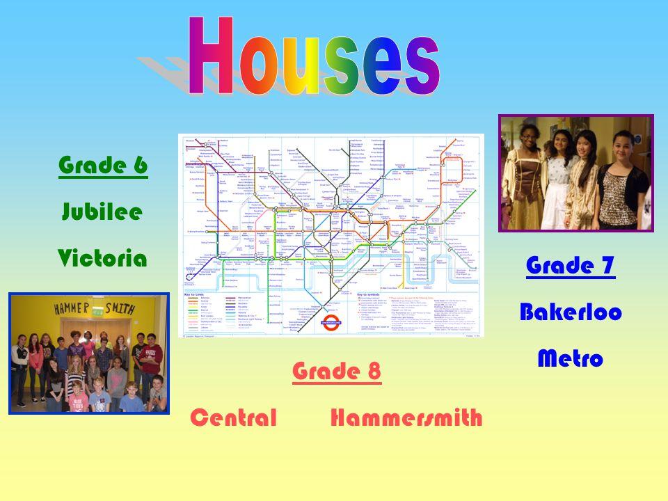 Grade 6 Jubilee Victoria Grade 7 Bakerloo Metro Grade 8 Central Hammersmith