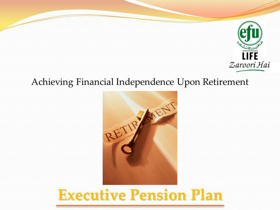 Executive Pension Plan Achieving Financial Independence Upon Retirement