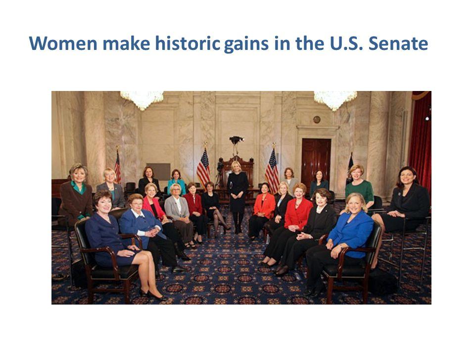 Women make historic gains in the U.S. Senate