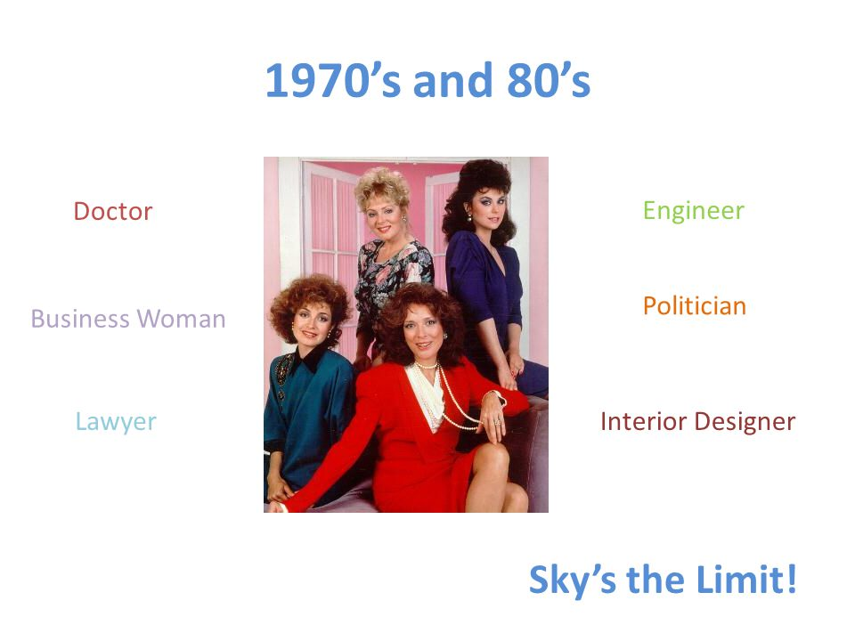1970s and 80s Doctor Business Woman Lawyer Engineer Politician Skys the Limit! Interior Designer