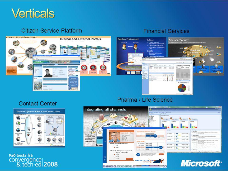 Citizen Service Platform Contact Center Pharma / Life Science Financial Services
