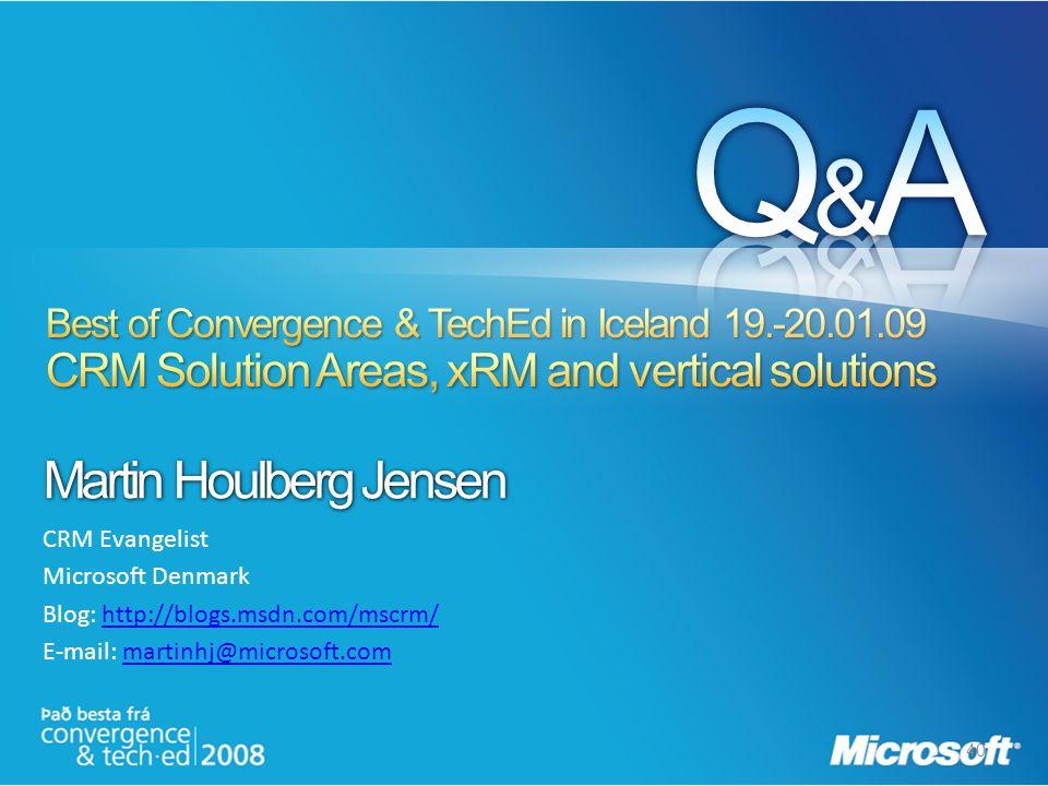 40 Martin Houlberg Jensen CRM Evangelist Microsoft Denmark Blog: http://blogs.msdn.com/mscrm/http://blogs.msdn.com/mscrm/ E-mail: martinhj@microsoft.c
