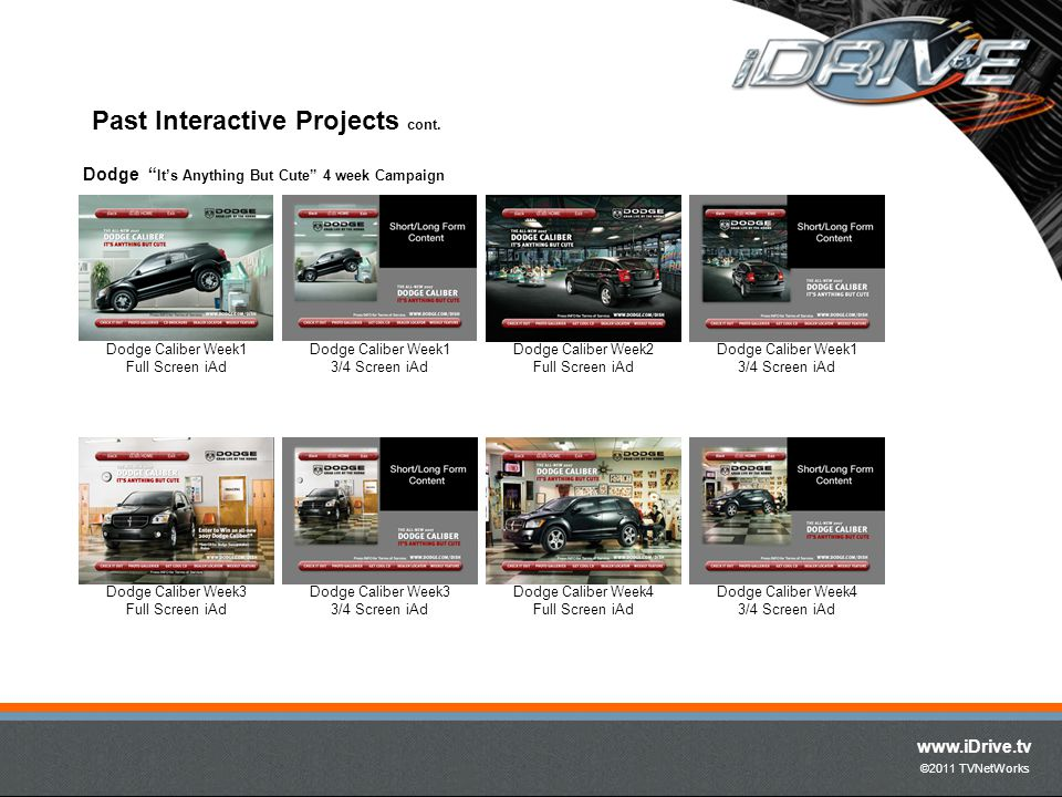 www.iDrive.tv ©2011 TVNetWorks Past Interactive Projects cont.
