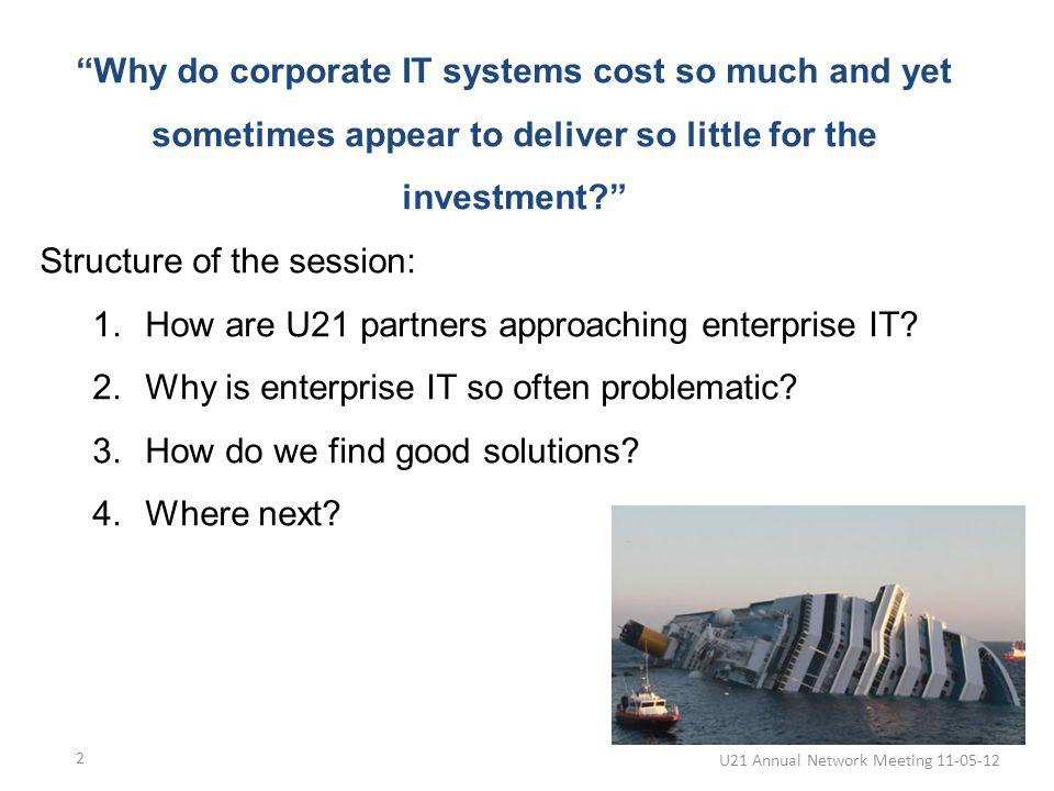 Why do corporate IT systems cost so much and yet sometimes appear to deliver so little for the investment.