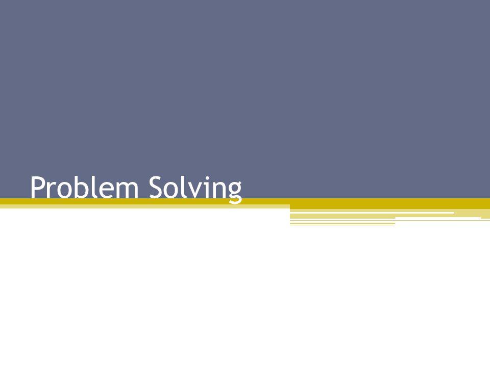 Focus on Problems vs.
