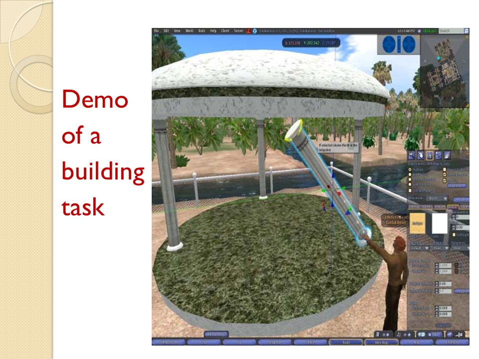 Demo of a building task