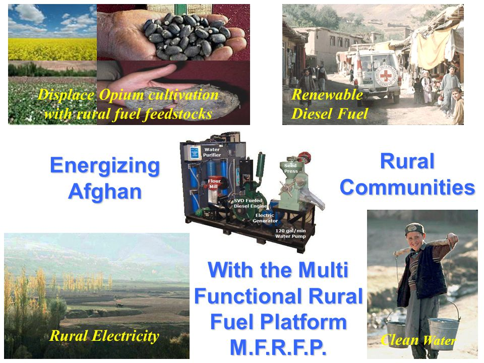With the Multi Functional Rural Fuel Platform M.F.R.F.P.