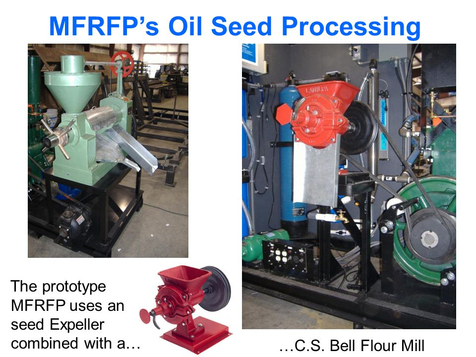 MFRFPs Oil Seed Processing The prototype MFRFP uses an seed Expeller combined with a… …C.S.