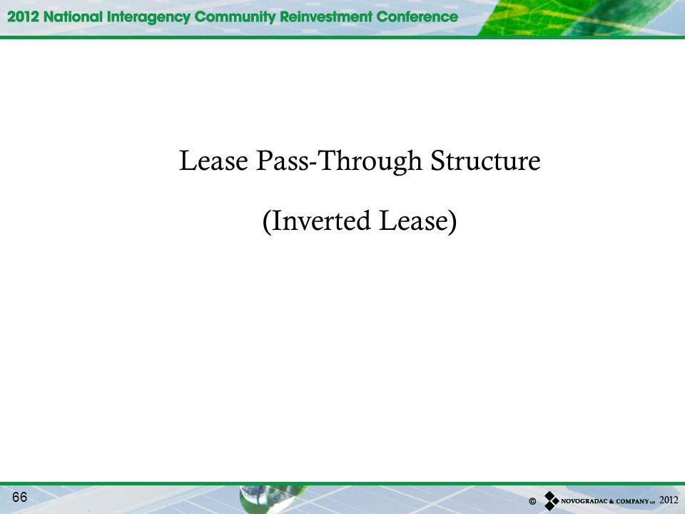 Lease Pass-Through Structure (Inverted Lease) 66
