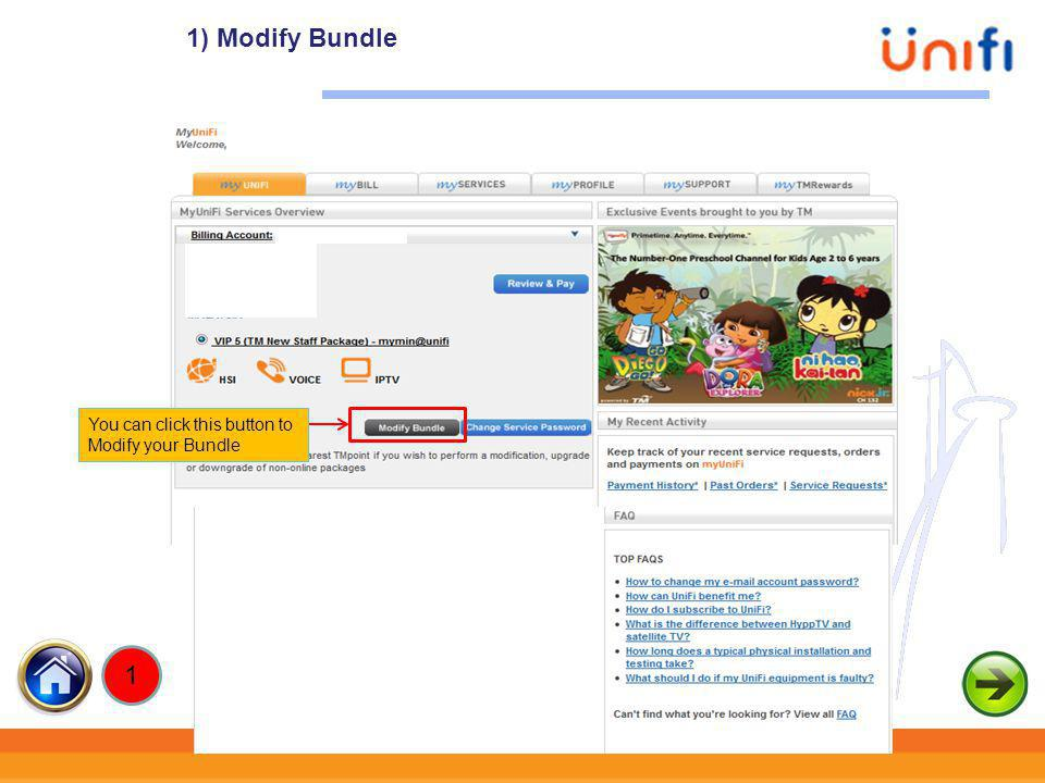 7 Click Select to upgrade package Modify Bundle - Upgrade Package 1