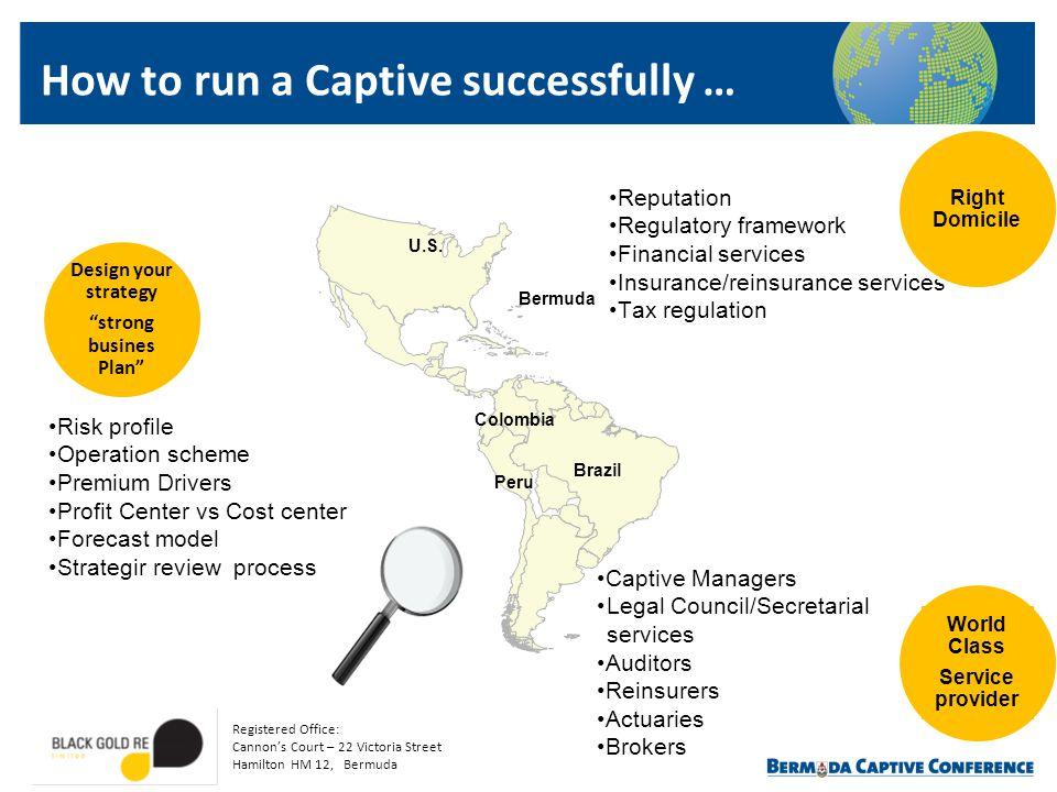 Peru Brazil U.S. Colombia Bermuda Reputation Regulatory framework Financial services Insurance/reinsurance services Tax regulation World Class Service