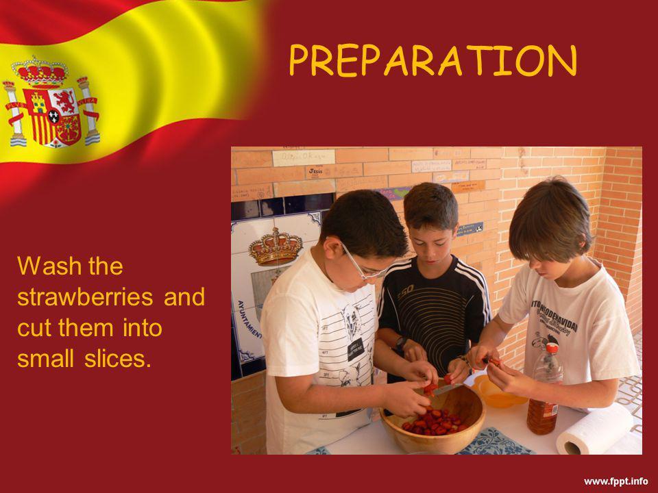 PREPARATION Add the sugar