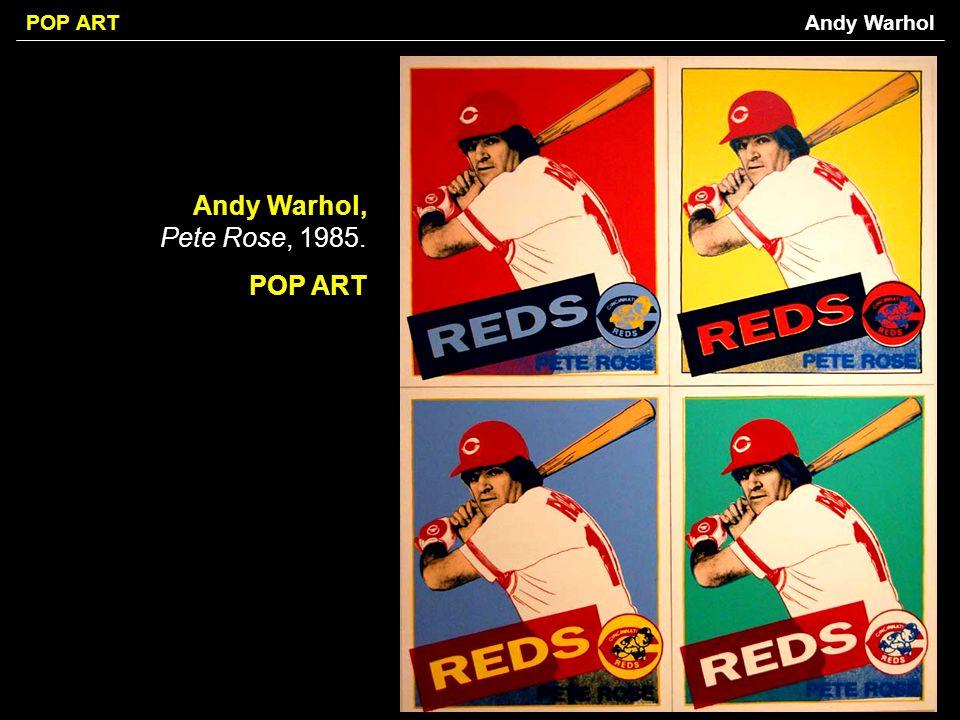 POP ART Andy Warhol, Pete Rose, 1985. POP ART Andy Warhol