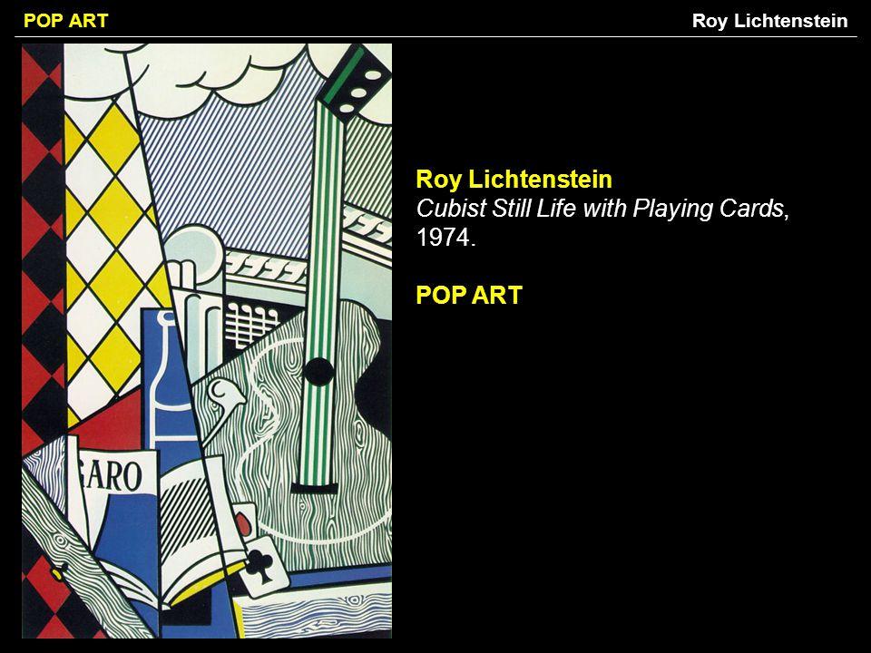 POP ART Roy Lichtenstein Cubist Still Life with Playing Cards, 1974. POP ART Roy Lichtenstein
