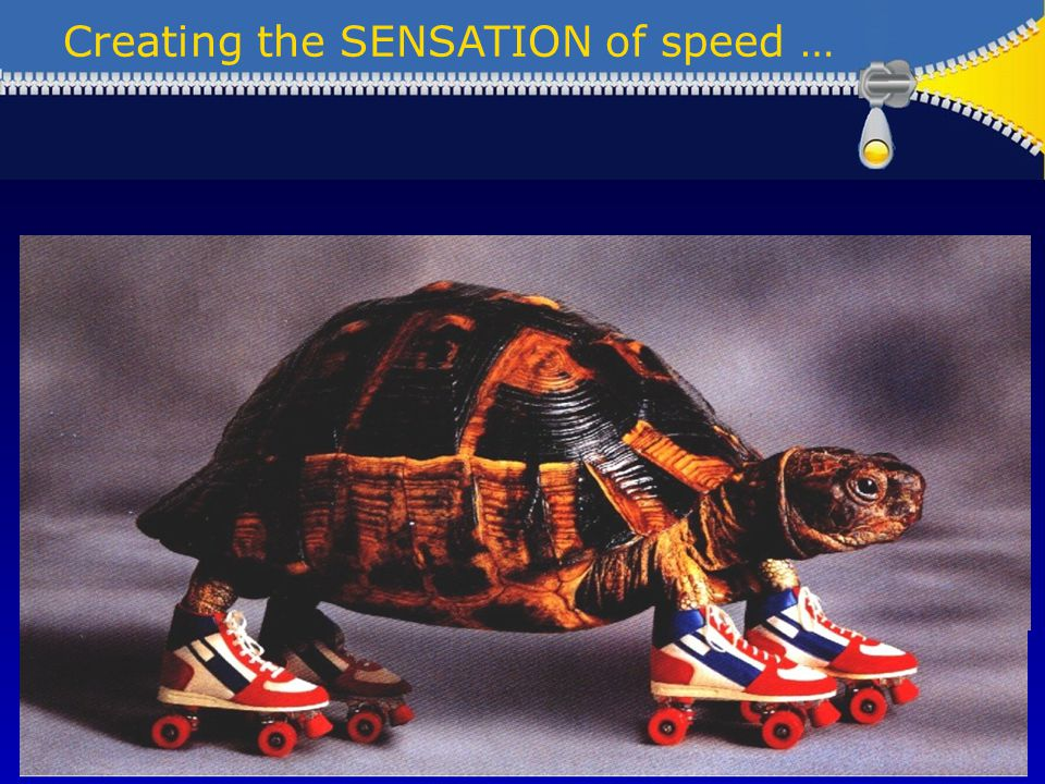Creating the SENSATION of speed … Preparation Governance Issue resolution Break the long journey into stages Having fun .
